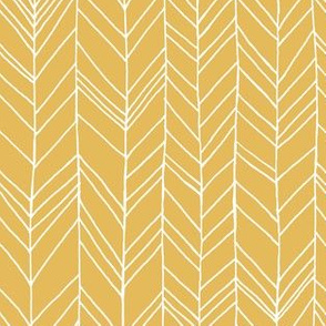 featherland Mustard/White