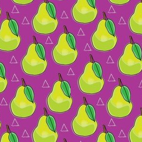 pears and triangles on plum
