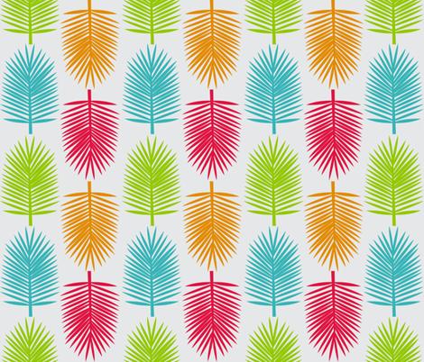 Rainbow Palms fabric by linziloop on Spoonflower - custom fabric