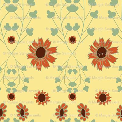 Sunflower Power Autumn Vines
