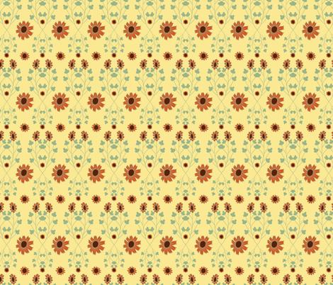 Sunflower Power Autumn Vines fabric by margiecampbellsamuels on Spoonflower - custom fabric