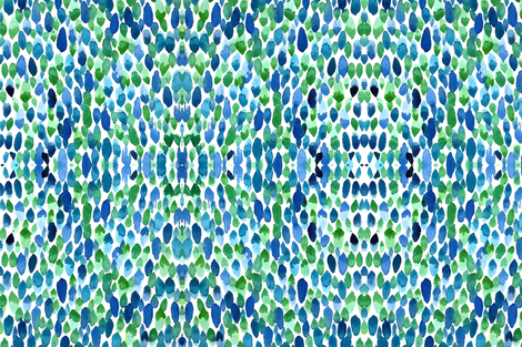 Clean Blue Green Rain fabric by aftermyart on Spoonflower - custom fabric