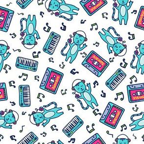 Cassette Cat Doodle
