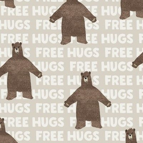 free hugs bear - beige