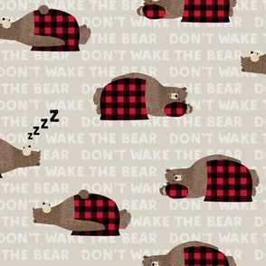 (small scale) don't wake the bear - beige