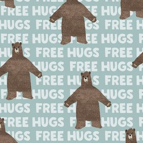 free hugs bear - dusty blue