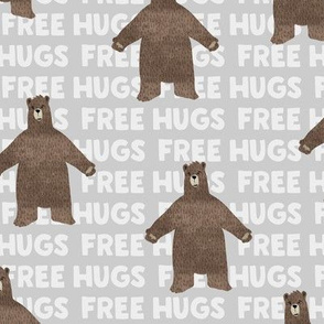 free hugs bear - grey