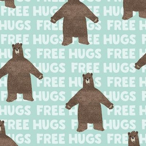 free hugs bear - dark mint