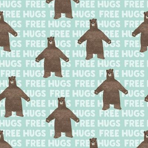 (small scale) free hugs bear - dark mint