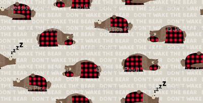 don't wake the bear - beige