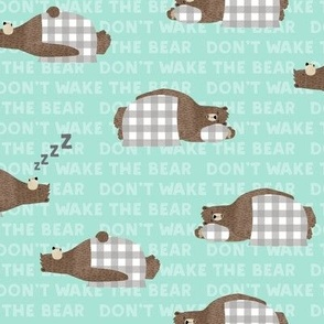 (small scale) don't wake the bear - light blue