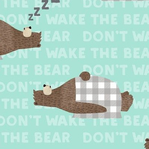 don't wake the bear - light blue