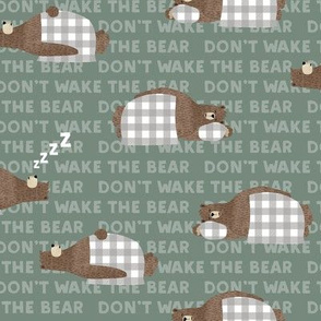 (small scale) don't wake the bear - green
