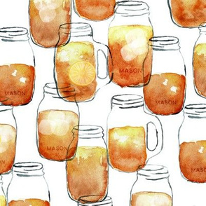 watercolor sweet tea - mason jar