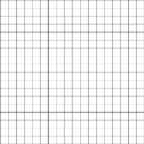 "Blocking - 1"" inch grid with 10"" increments"