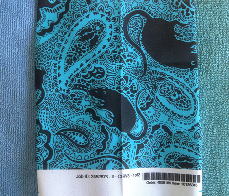 turquoise paisley rat print - Medium Siz
