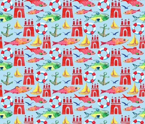 Hometown Hamburg fabric by colorofmagic on Spoonflower - custom fabric
