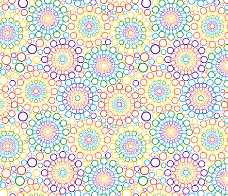 Rainbow Bubbles fabric by chiral on Spoonflower - custom fabric