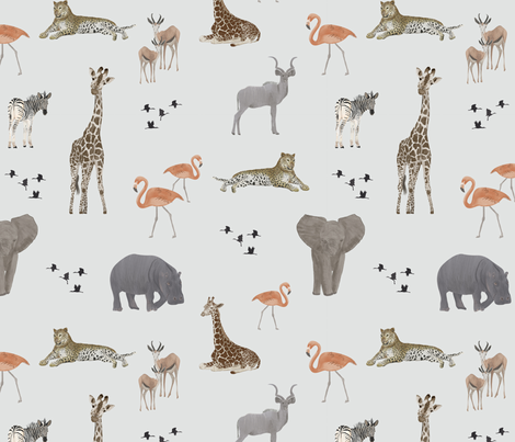 Safari Animals fabric by melarmstrong on Spoonflower - custom fabric