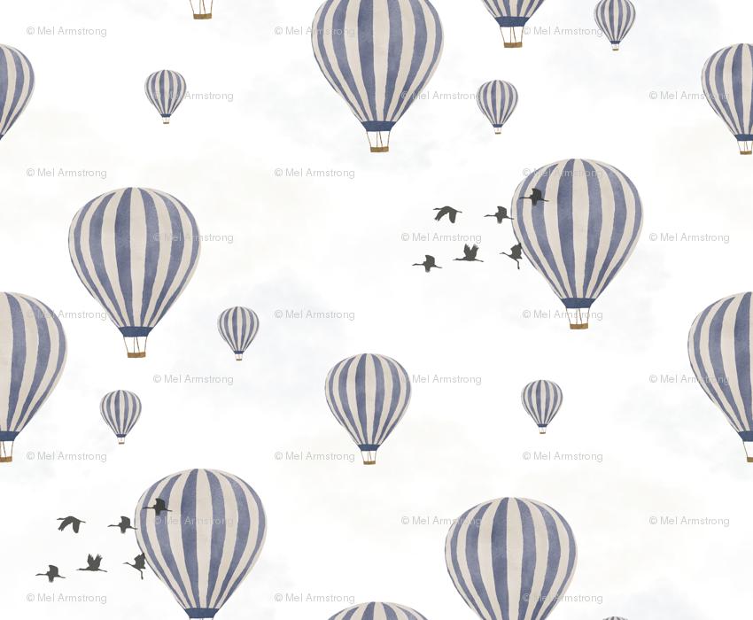 Hot Air Balloons Over The Safari Wallpaper Melarmstrongdesign