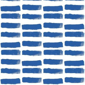 Broad Brush Strokes in Blue