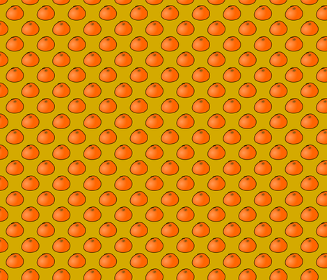 Mini oranges fabric by the_sewphist on Spoonflower - custom fabric