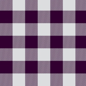 Big Buffalo Plaid - Check - Eggplant and Silver