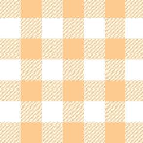Big Buffalo Plaid - Check - orange and white - tangerine