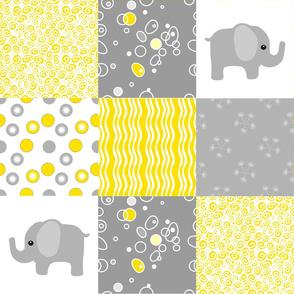 yellow elephant quilt
