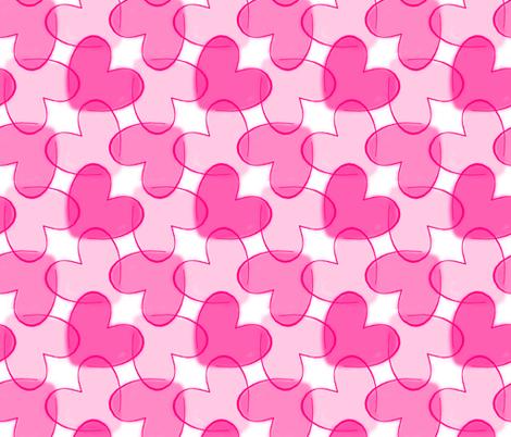 Interlocking Pink Hearts fabric by themadcraftduckie on Spoonflower - custom fabric