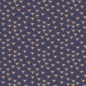 Dark Heather print metallic deer 2x2
