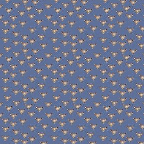 Denim print metallic deer_2x2