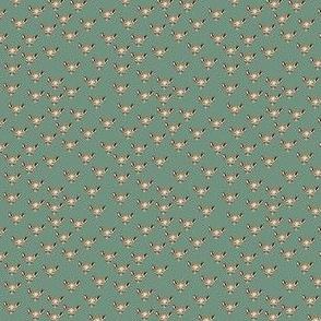 Greenery print metallic deer 2x2