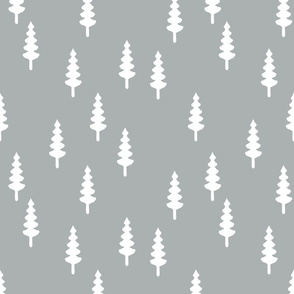 trees on grey