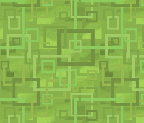 Geometric Open Work Squares In Greenery fabric by theartofvikki on Spoonflower - custom fabric