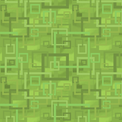 Geometric Open Work Squares In Greenery