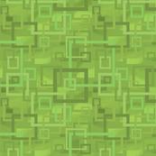 Geometric Open Work Squares In Greenery