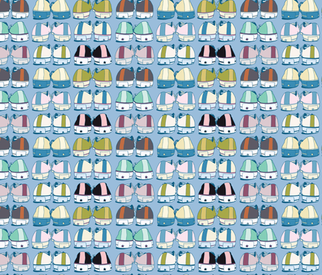 I Love My Chuck Taylors fabric by figandfossil on Spoonflower - custom fabric