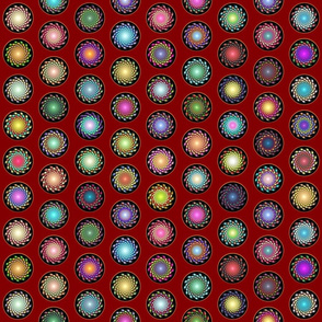 Galaxy_Polka-dots_Red_Dark