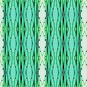bamboo  stripes- tidepool mist