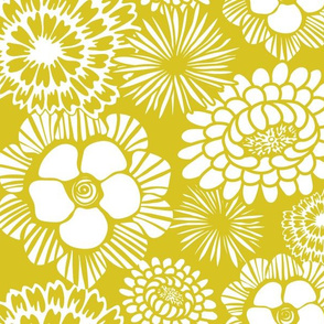 Festibloom - Modern Floral Custom Mustard Yellow