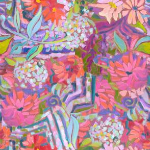 Zinnia Hydrangea Large Repeat