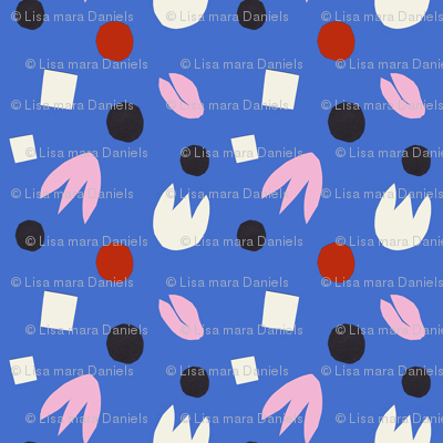 Cut Out Tulips on Blue smaller