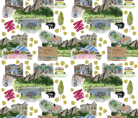 WELCOME TO BOULDER fabric by pam_ash_designs on Spoonflower - custom fabric
