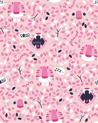 Roarr - Wild pink tiger