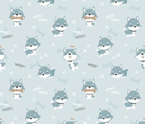 Husky fabric by ewa_brzozowska on Spoonflower - custom fabric