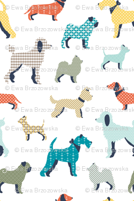 Patterned dogs - BIG