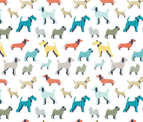 Patterned dogs - BIG fabric by ewa_brzozowska on Spoonflower - custom fabric