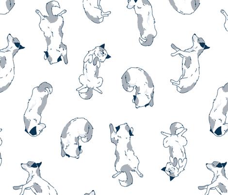 Sleeping Dog - BIG fabric by ewa_brzozowska on Spoonflower - custom fabric
