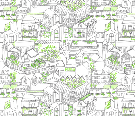 Rooftops and Treetops fabric by graceful on Spoonflower - custom fabric